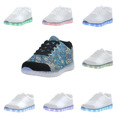 Embroidered Design 1 Light Up Casual Men's Shoes-Light Up Shoes-JEFAMO