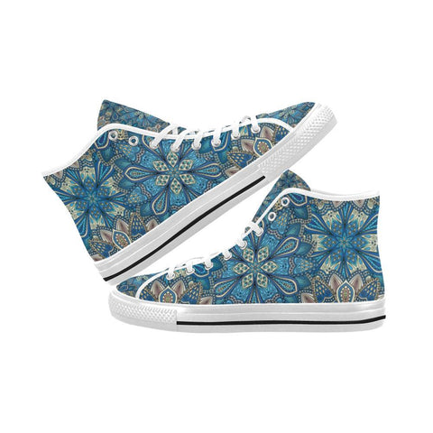 Embroidered Design 1 Vancouver High Top Canvas Men's Shoes-Canvas Shoes-JEFAMO
