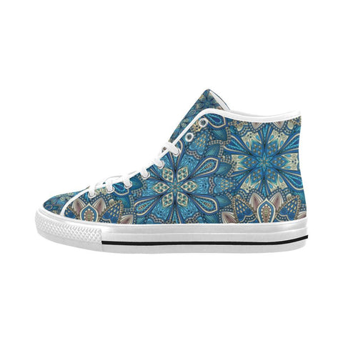 Image of Embroidered Design 1 Vancouver High Top Canvas Men's Shoes-Canvas Shoes-JEFAMO