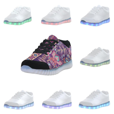 Embroidered Design 2 Light Up Casual Men's Shoes-Light Up Shoes-JEFAMO