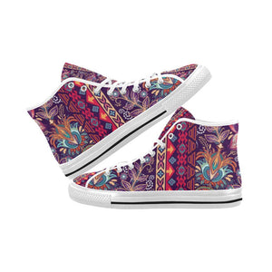 Embroidered Design 2 Vancouver High Top Canvas Men's Shoes
