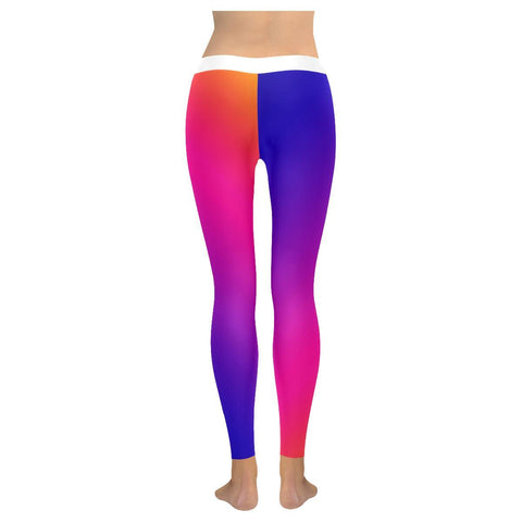 Fabled Sunset Design 1 All-Over Low Rise Leggings-Leggings-JEFAMO