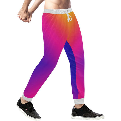 Fabled Sunset Design 1 Men's All Over Print Casual Jogger Pants-Pants-JEFAMO