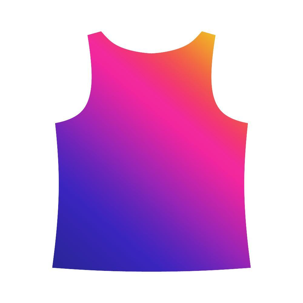 Fabled Sunset Design 1 Women's All Over Print Tank Top-Tank Tops-JEFAMO