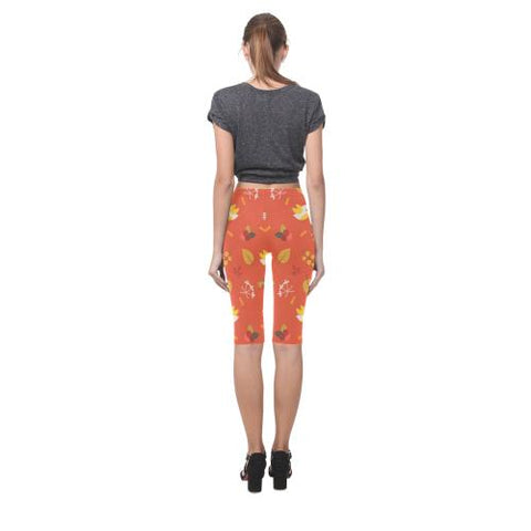 Image of Floral Design All-Over Cropped Leggings (Model L03)-Leggings-JEFAMO