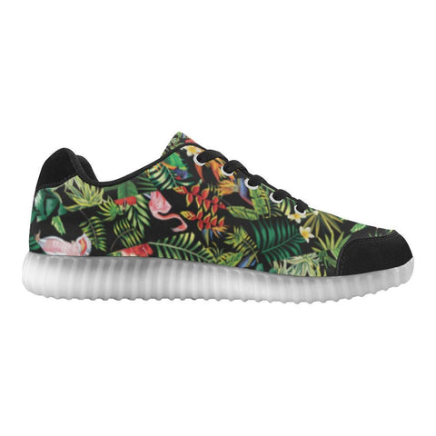 Floral Tropics Design 2 Light Up Casual Men's Shoes-Light Up Shoes-JEFAMO
