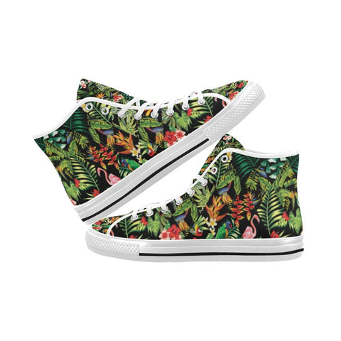 Floral Tropics Design 2 Vancouver High Top Canvas Men's Shoes-Canvas Shoes-JEFAMO