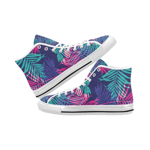 Image of Floral Tropics Design 3 Vancouver High Top Canvas Men's Shoes-Canvas Shoes-JEFAMO