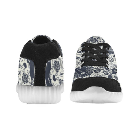 Fox Skull Design 1 Light Up Casual Men's Shoes-Light Up Shoes-JEFAMO