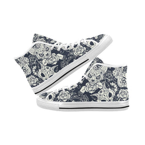 Fox Skull Design 1 Vancouver High Top Canvas Men's Shoes