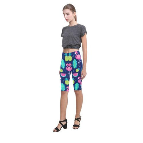 Fruity Design All-Over Cropped Leggings (Model L03)-Leggings-JEFAMO