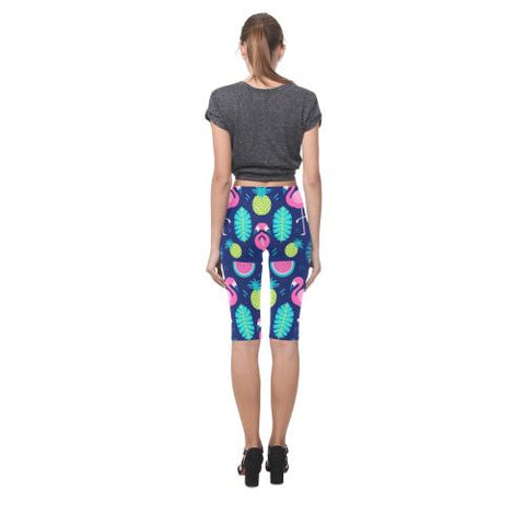 Image of Fruity Design All-Over Cropped Leggings (Model L03)-Leggings-JEFAMO
