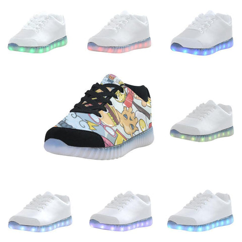 Funny Characters Design 1 Light Up Casual Men's Shoes-Light Up Shoes-JEFAMO