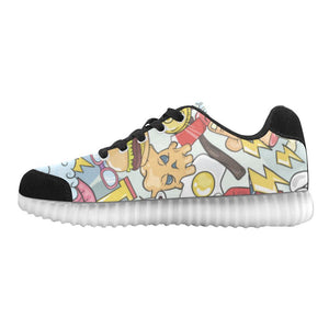 Funny Characters Design 1 Light Up Casual Women's Shoes