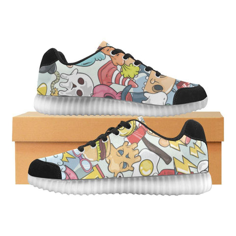 Funny Characters Design 1 Light Up Casual Women's Shoes-Light Up Shoes-JEFAMO