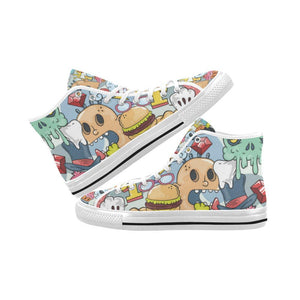 Funny Characters Design 1 Vancouver High Top Canvas Men's Shoes