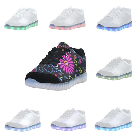 Glory Refuge Design 1 Light Up Casual Men's Shoes-Light Up Shoes-JEFAMO