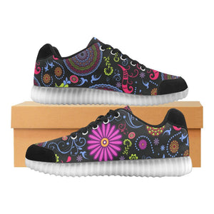 Glory Refuge Design 1 Light Up Casual Women's Shoes-Light Up Shoes-JEFAMO
