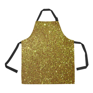 Gold Glitter All Over Print Adjustable Apron