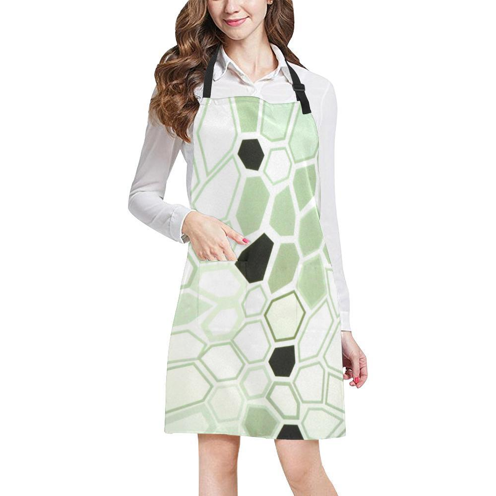 Hex Camo Design 1 All Over Print Adjustable Apron-Aprons-JEFAMO