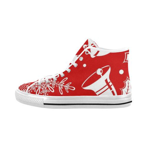 Holiday Cheer Vancouver High Top Canvas Men's Shoes (Model1013-1)-Canvas Shoes-JEFAMO