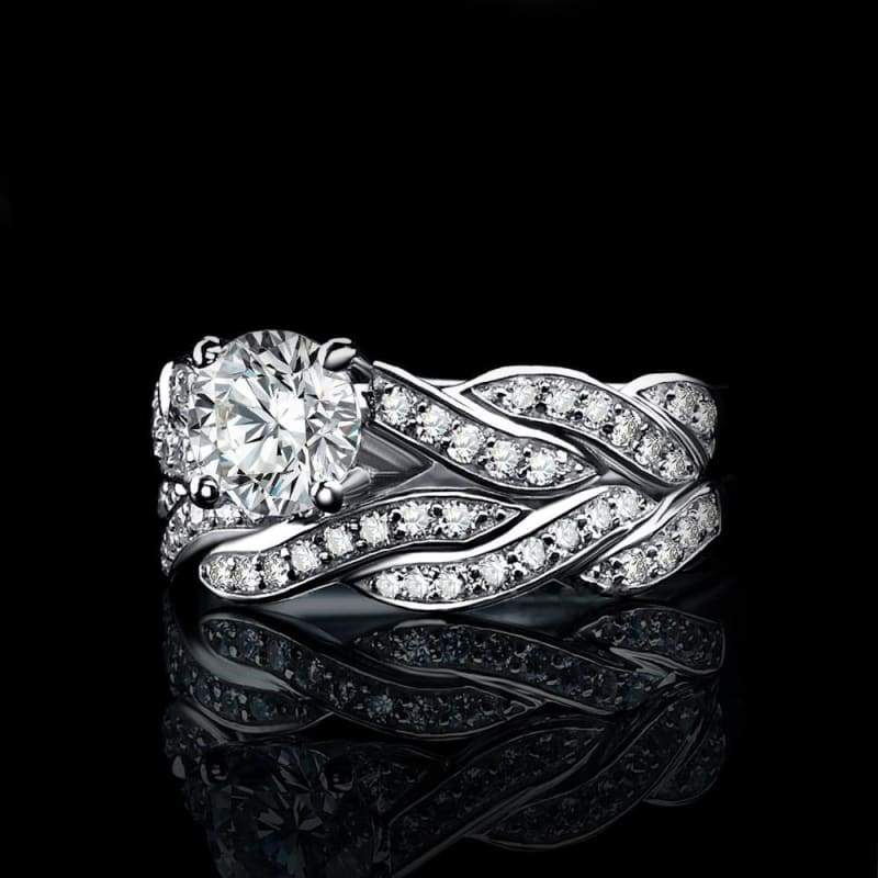 Infinity Love Forever Simulated Diamond Cubic Zirconia Ring 925 Sterling Silver-JP_RINGS-JEFAMO