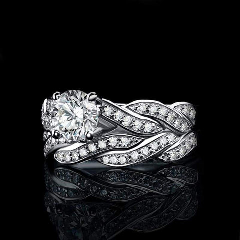 Image of Infinity Love Forever Simulated Diamond Cubic Zirconia Ring 925 Sterling Silver-JP_RINGS-JEFAMO