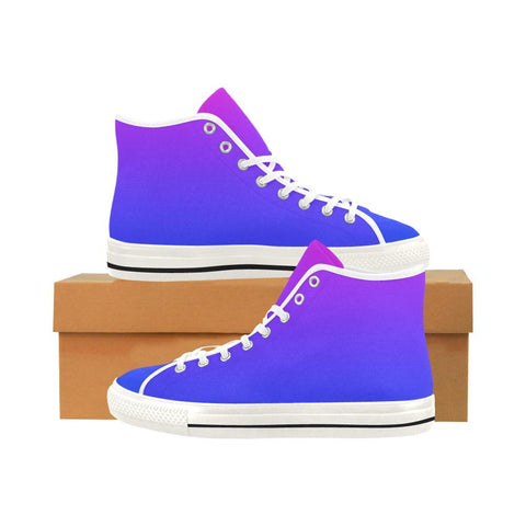 Image of Night Party Design 1 Vancouver High Top Canvas Women's Shoes-Canvas Shoes-JEFAMO