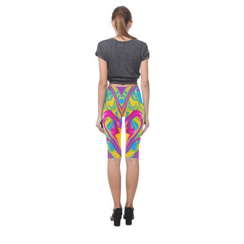 Pattern Design 1 All-Over Cropped Leggings (Model L03)-Leggings-JEFAMO