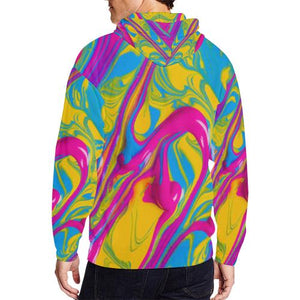 Pattern Design 1 Men's All Over Print Full Zip Hoodie (Model H14)