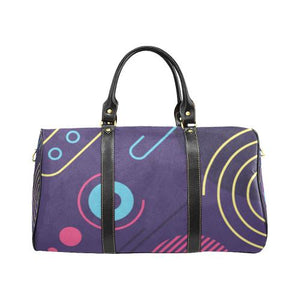Pattern Design 11 Travel Bag Black (Small) (Model1639)