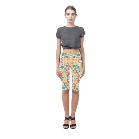 Image of Pattern Design 12 All-Over Cropped Leggings (Model L03)-Leggings-JEFAMO