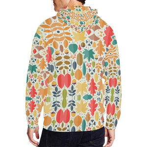 Pattern Design 12 Men's All Over Print Full Zip Hoodie (Model H14)