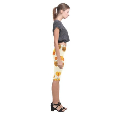 Pattern Design 13 All-Over Cropped Leggings (Model L03)-Leggings-JEFAMO