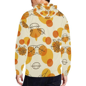 Pattern Design 13 Men's All Over Print Full Zip Hoodie (Model H14)