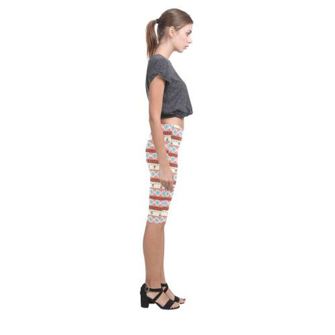 Pattern Design 14 All-Over Cropped Leggings (Model L03)-Leggings-JEFAMO