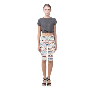 Pattern Design 3 All-Over Cropped Leggings (Model L03)-Leggings-JEFAMO