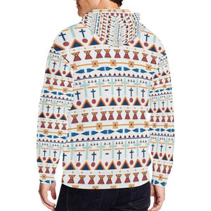 Pattern Design 3 Men's All Over Print Full Zip Hoodie (Model H14)
