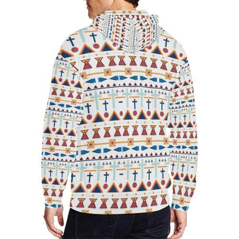 Pattern Design 3 Men's All Over Print Full Zip Hoodie (Model H14)-All-over Hoodies-JEFAMO