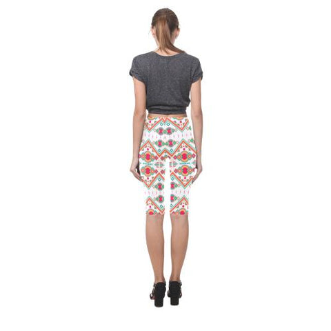 Image of Pattern Design 7 All-Over Cropped Leggings (Model L03)-Leggings-JEFAMO