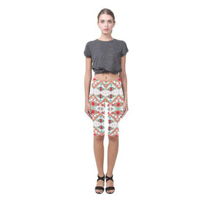Pattern Design 7 All-Over Cropped Leggings (Model L03)-Leggings-JEFAMO