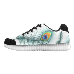 Peacock Feathers Design 2 Light Up Casual Men's Shoes