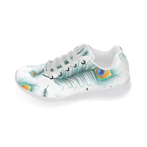 Peacock Feathers Design 2 Women's Sneakers-Sneakers-JEFAMO