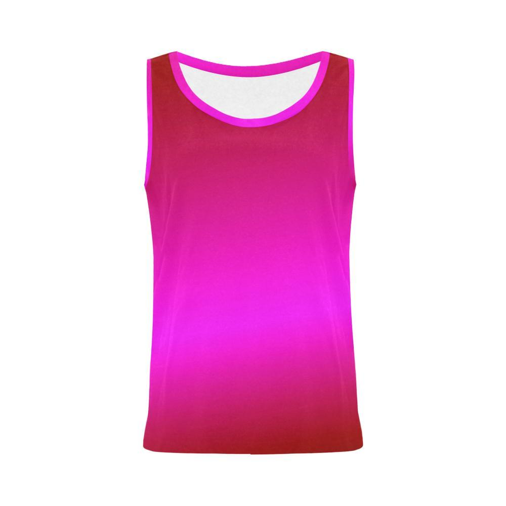 Pink Design 1 Women's All Over Print Tank Top-Tank Tops-JEFAMO