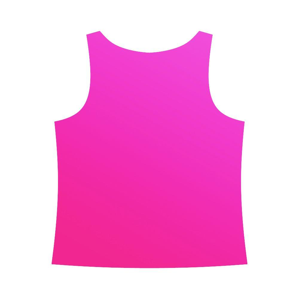 Pink Design 2 Women's All Over Print Tank Top-Tank Tops-JEFAMO