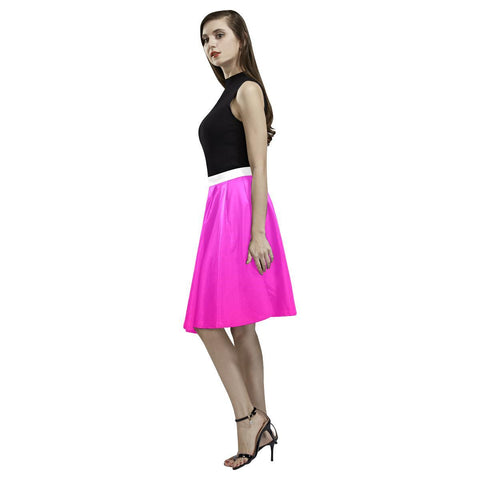 Image of Pink Design 2 Women's Pleated Midi Skirt-Skirts-JEFAMO