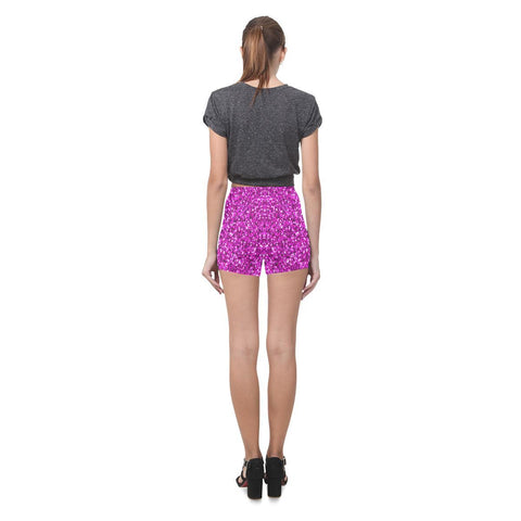 Image of Pink Glitter All-Over Skinny Shorts-Leggings-JEFAMO