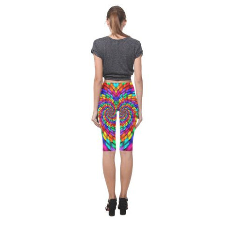 Image of Psycadelic Patterns 1 All-Over Cropped Leggings (Model L03)-Leggings-JEFAMO