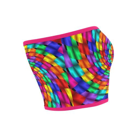Image of Psycadelic Patterns 1 Bandeau Top-Tank Tops-JEFAMO