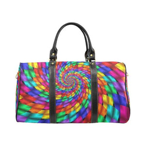 Psycadelic Patterns 1 Travel Bag Black (Small) (Model1639)